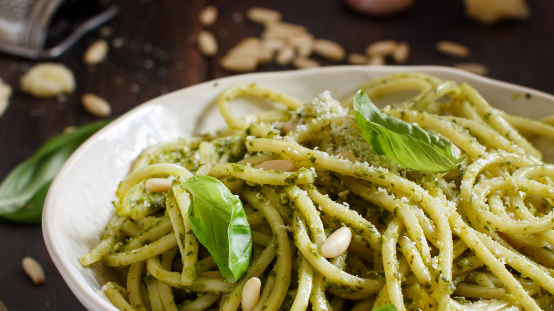 CBD Spaghetti and Pesto