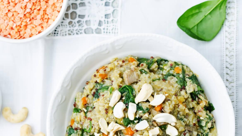 CBD Lentil Quinoa & Mushrooms
